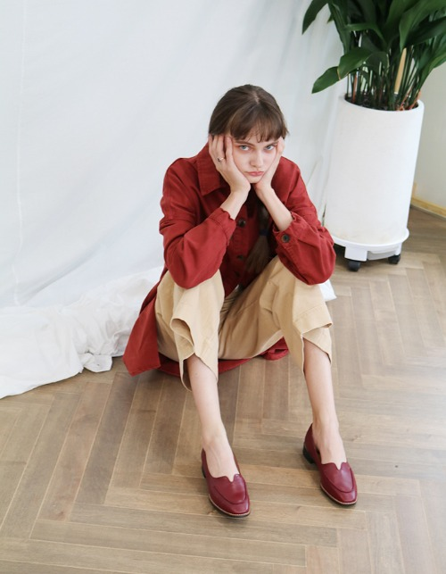 [sample sale] T004 voca loafer wine (1.5cm)