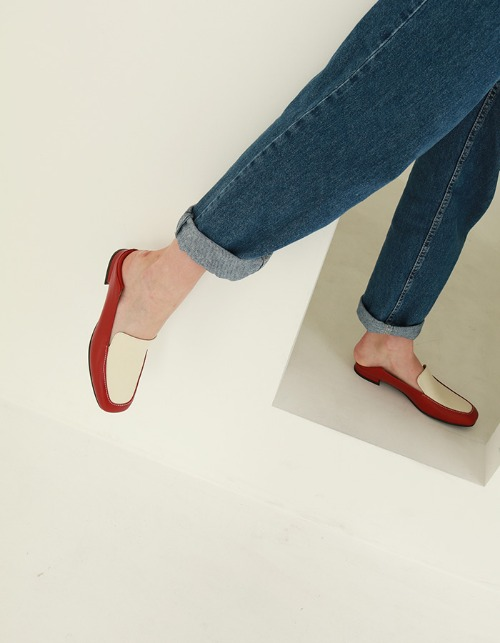 T101 twoway loafer cherry red (1.5cm)