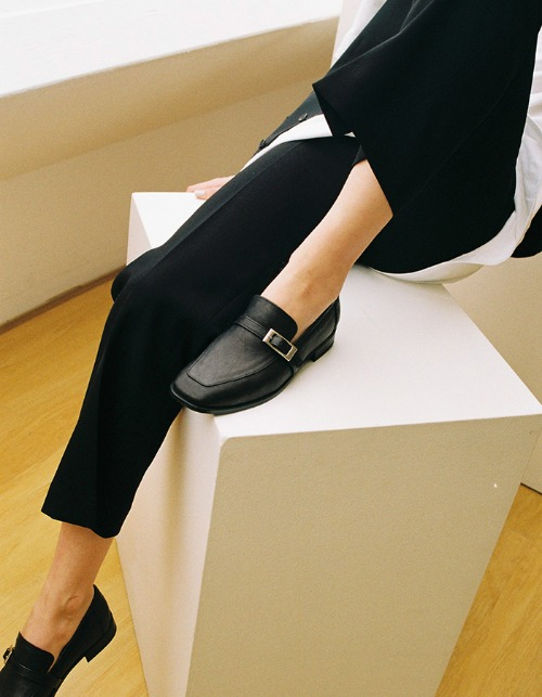 T103 buckle loafer black (2cm)